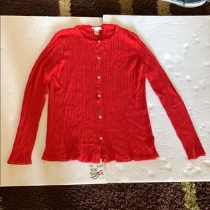 Sweaters - (Women's) button down cardigan size L